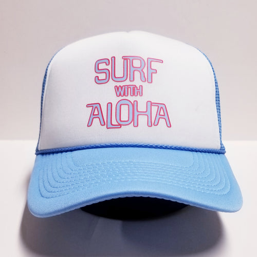 SURF WITH ALOHA - BLUE FOAM TRUCKER