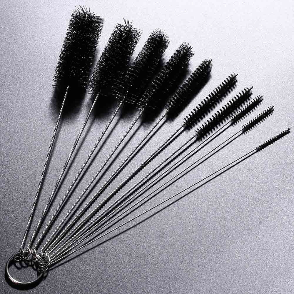 10 Bottle Cleaning Brushes - Black