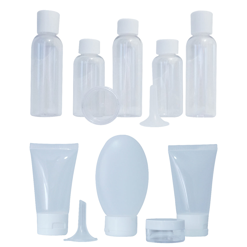 12 Piece Travel Toiletry Bottle Set