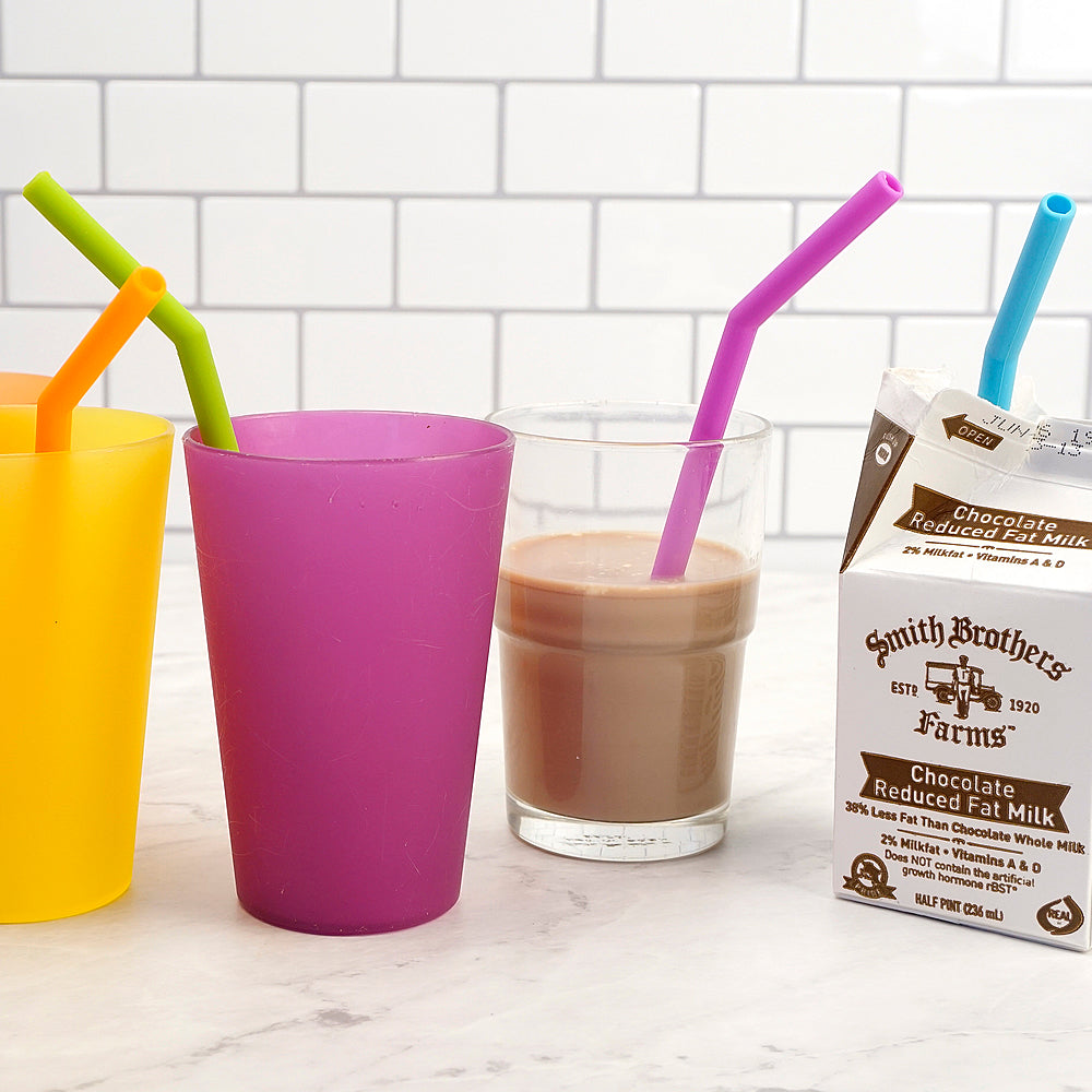 Eco-Friendly Reusable Straws - Pack of 6 | Includes 2