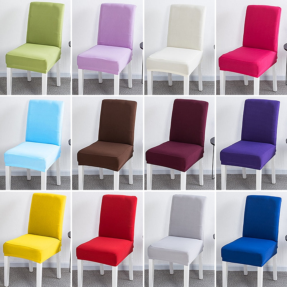Plain Stretch Dining Chair Covers