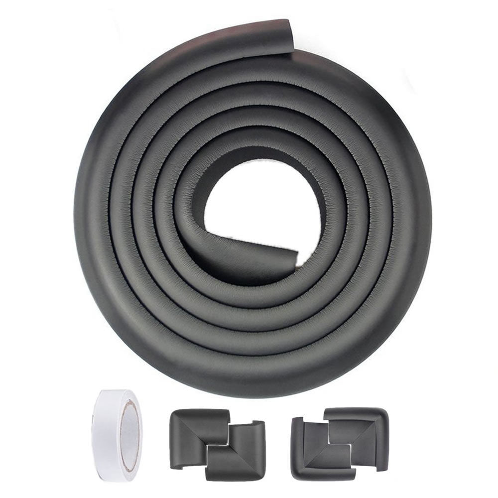 Rubber Edge and Corner Protectors - Black