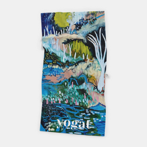 Microfibre Workout Towel - The Spirit that Meanders between Land and Sky by Bree Morrison