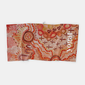 Microfibre Workout Towel - Kalkatunga Country by Glenda McCulloch