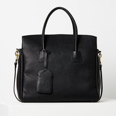 Top Folding Tote / Black