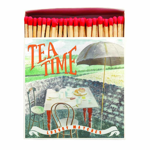 Luxury Matchboxes Square - Tea at Furlongs - The Archivist Gallery