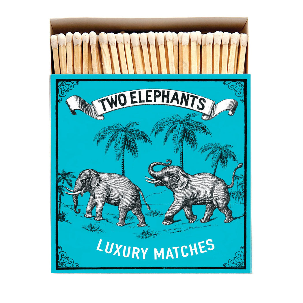 Luxury Matchboxes Square - Two elephants - The Archivist Gallery
