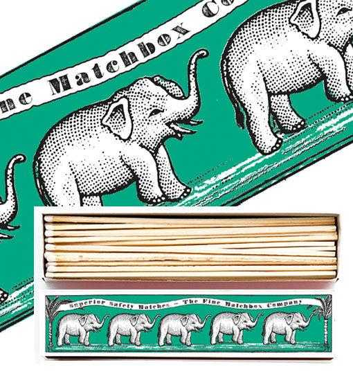 Luxury Matchboxes Long - Elephants - The Archivist Gallery | FABLAB AB