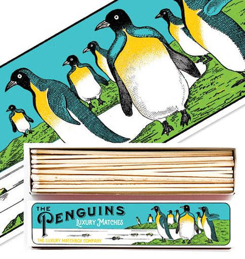 Luxury Matchboxes Long - Penguins - The Archivist Gallery