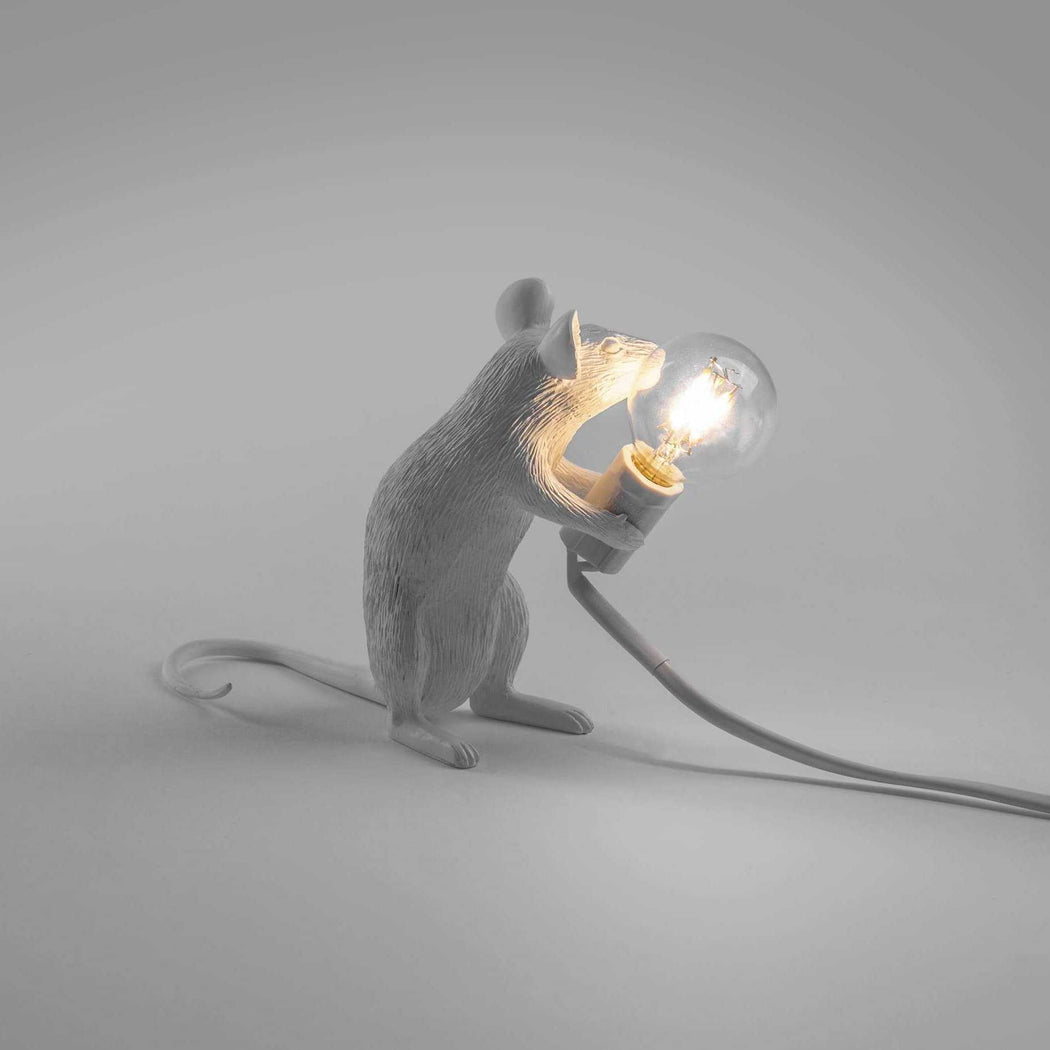 Mouse Lamp - White - Seletti