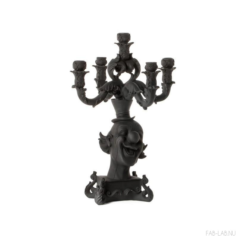 Burlesque - Clown Black Candelabra - Seletti | FABLAB AB