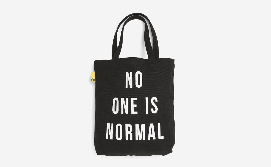 No One Is Normal Tote Bag - Black - The School of Life | FABLAB AB