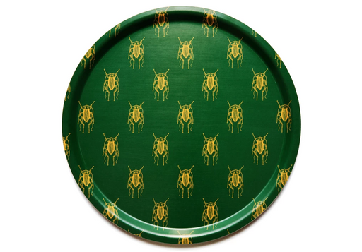 Cockroach Green - Round Tray - Flyboyant | FABLAB AB