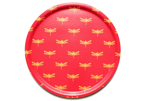 Dragonfly Red - Round Tray - Flyboyant | FABLAB AB