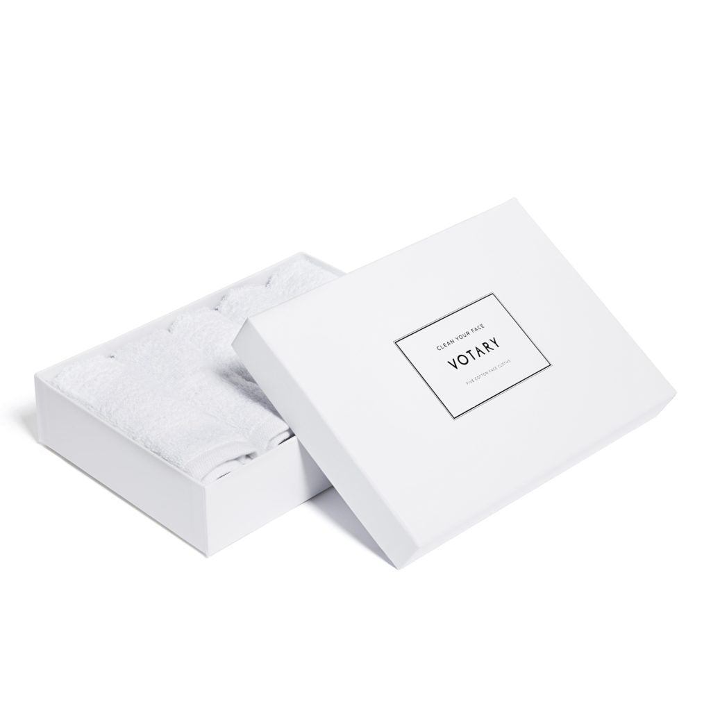 Boxed 5 Cotton Face Cloths - Votary