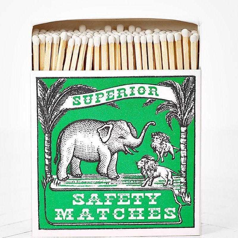 Luxury Matchboxes Square - Elephant - The Archivist Gallery | FABLAB AB