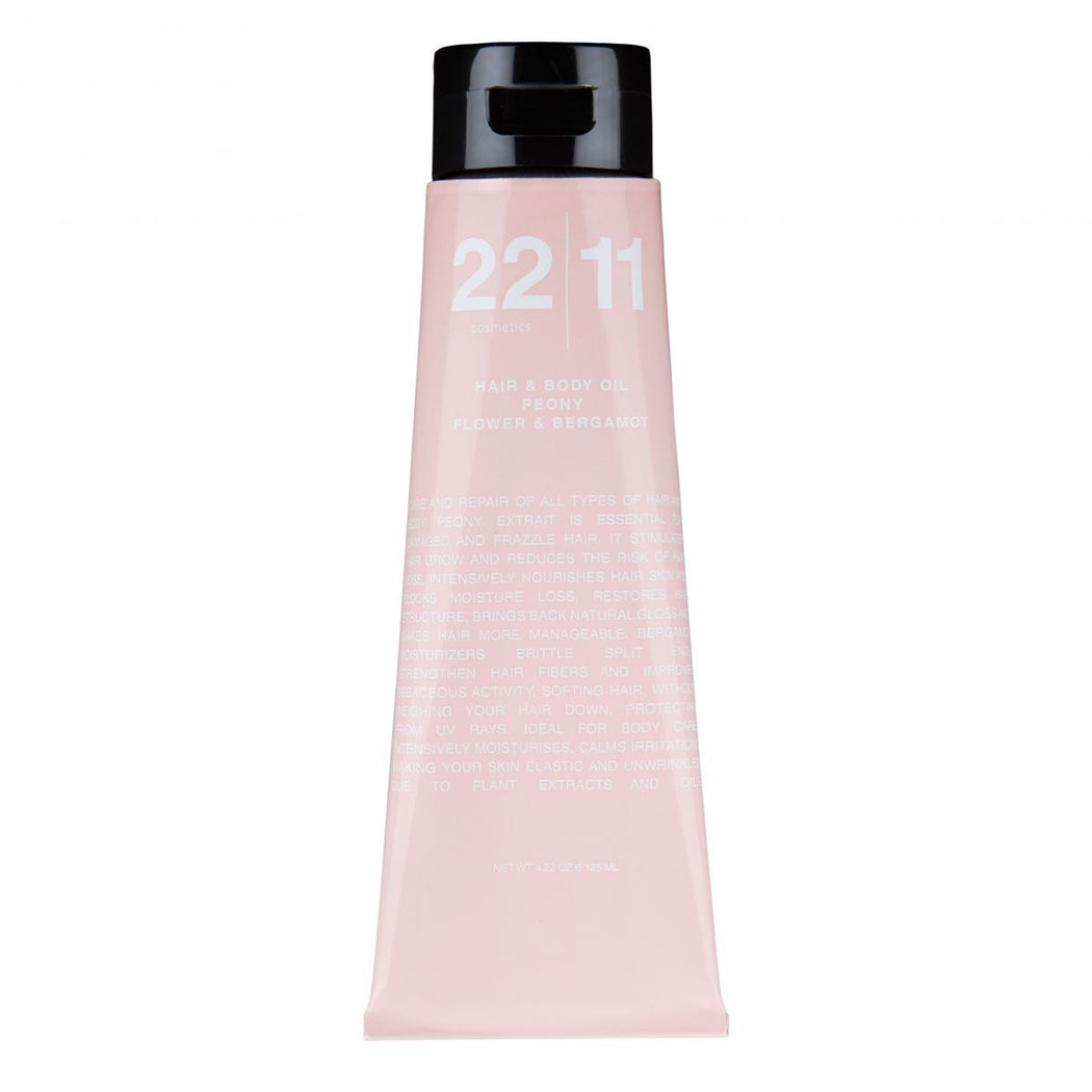 BO - HAIR & BODY OIL PEONY FLOWER + BERGAMOT - 22|11 Cosmetics