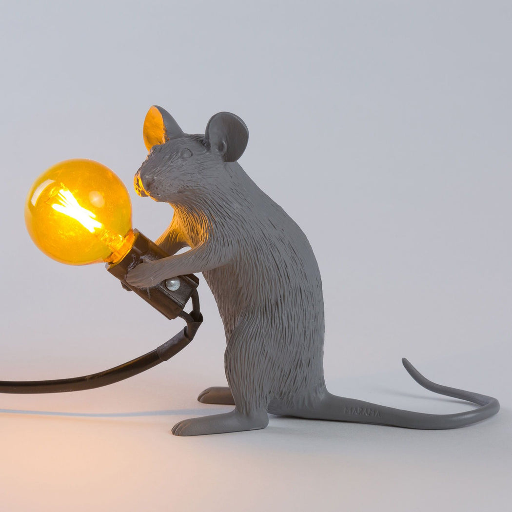 Mouse Lamp - Grey - Seletti