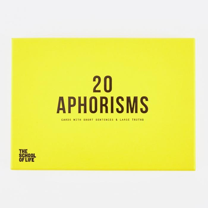 20 Aphorisms Card Set - The School of Life