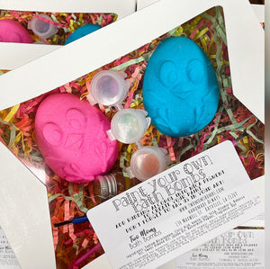 Paint Your Own Easter Bath Bombs Kit