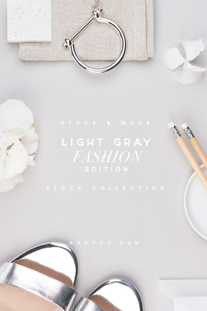 Stock & Mock | Light Gray Fashion - ANA & YVY