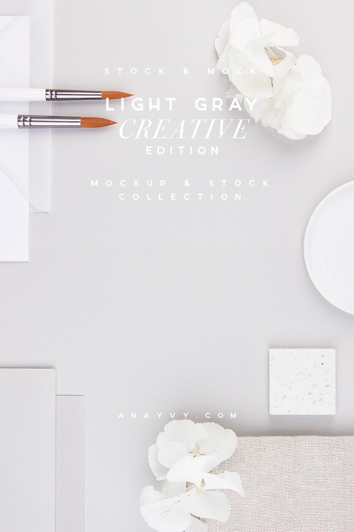 Stock & Mock | Light Gray Creative - ANA & YVY