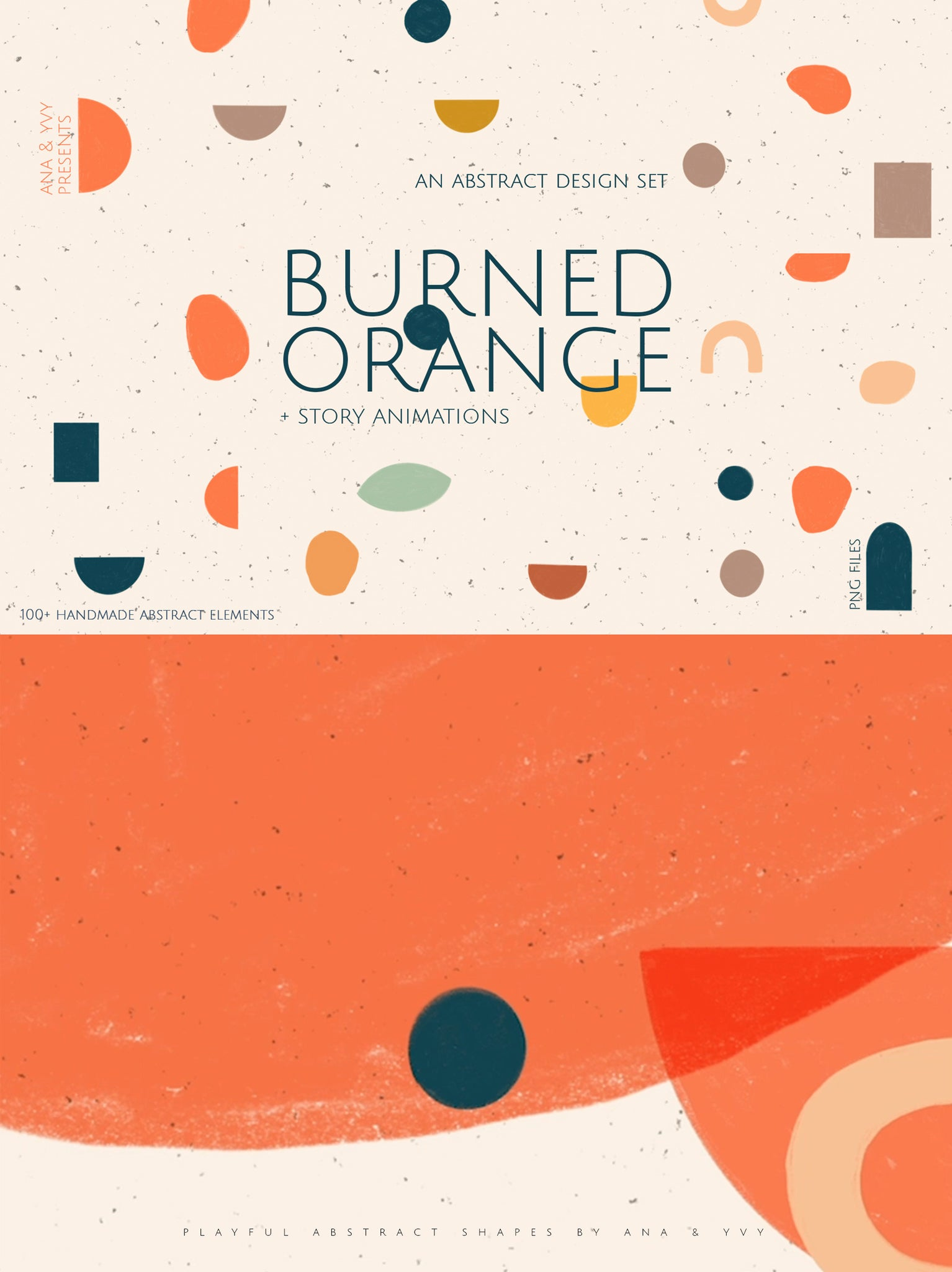 Abstract Shapes | The Burned Orange - ANA & YVY