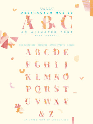 Animated Font | Abstractum Mobile - ANA & YVY