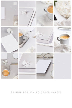 Stock & Mock | Light Gray Business - ANA & YVY
