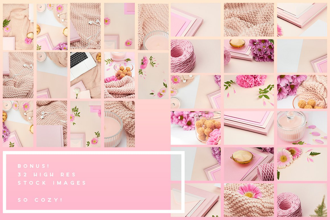 Stock & Mock | Peach & Pink - ANA & YVY