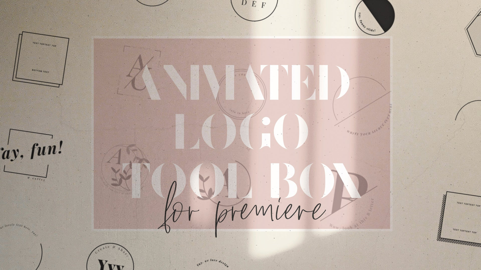 Animated Logo Creator | Logo Tool Box Template - ANA & YVY