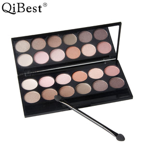 Beauty Essentials The Best Brand 12 Colors Shimmer Matte Eyeshadow Makeup Palette Long Lasting Eye Shadow Natural Nude Eyeshadow With Brush Kits