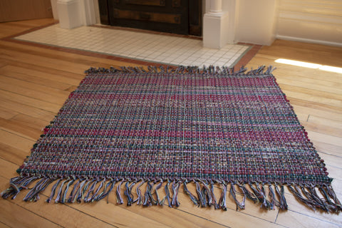 Cotton Rug with Fringe
