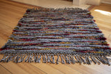 Wool Rug with Fringe