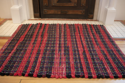 Red black wool blankets