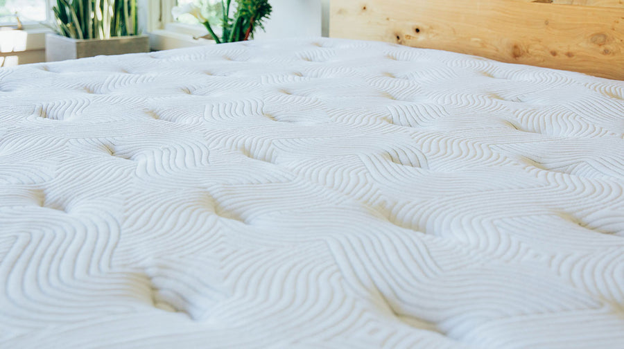 Current Mattress - Up close shot of mattress pillowing and wavy pattern