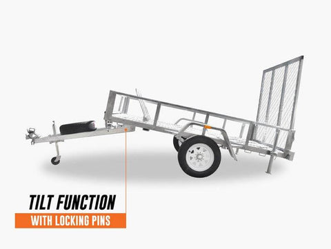 8 X 5 Motorcycle and ATV Single Axle Trailer
