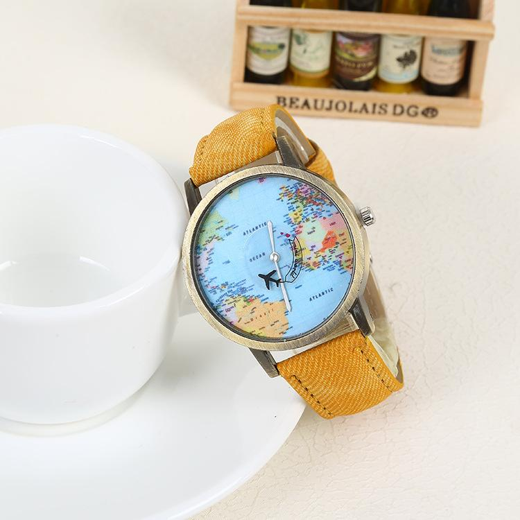Globetrotter World Map Watch