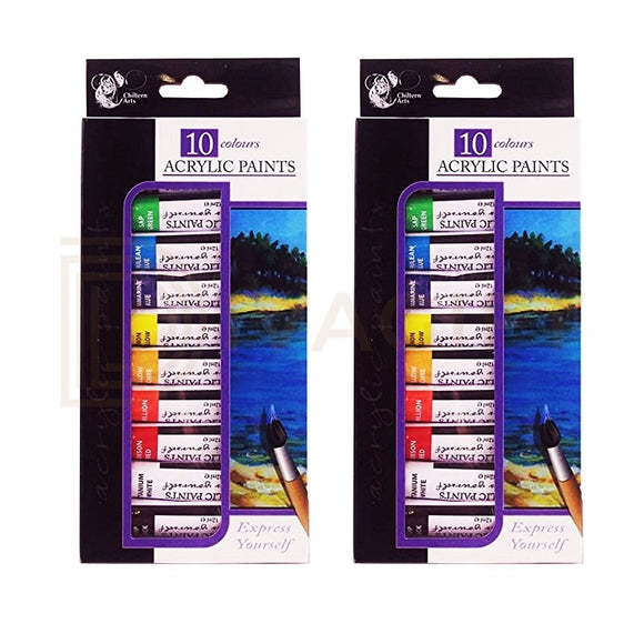 10 Assorted Acrylic Paint Set