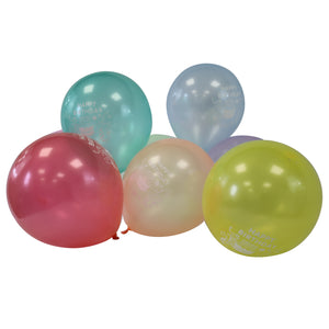 Latex Happy Birthday Balloons - Assorted Colours - Pack of 100