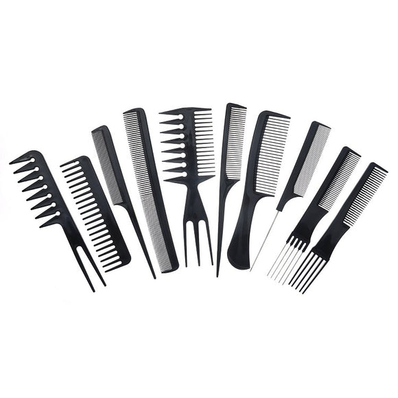 10 Piece Hair Styling Comb Kit