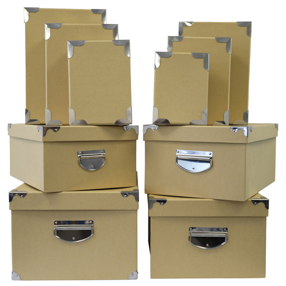 10 Piece Office Storage Boxes with Lid