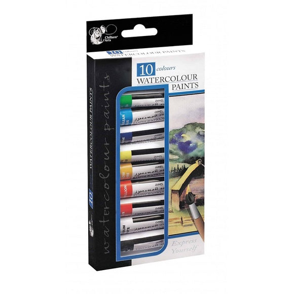 10 Assorted Watercolour Paints