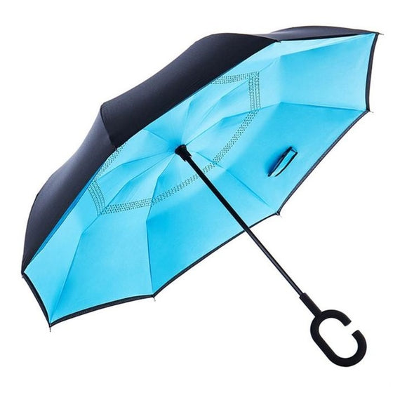 Double Layer Reverse Umbrella (Soft Blue)