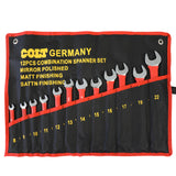 12 Piece Combination Spanner Set with Rubber Handles