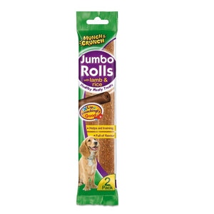 Munch Crunch Jumbo Rolls With Lamb & Rice 2pk