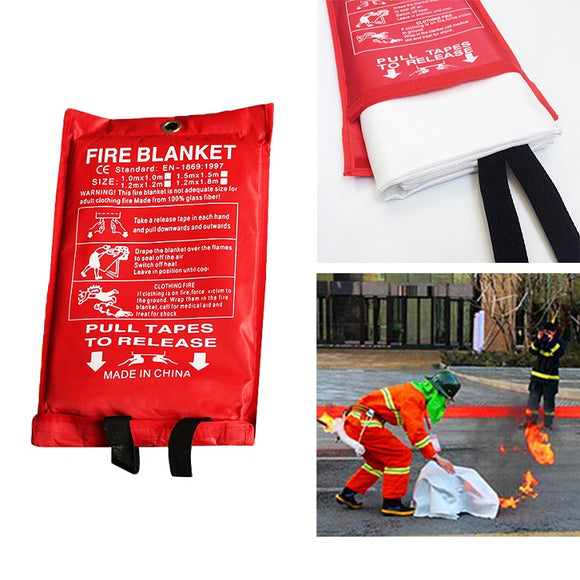 2 Pack Fire Blanket - 1m x 1m