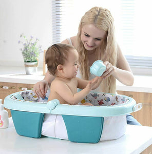 Fold away Baby Bathtub (Blue)