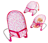 3 in 1 Doll Play Set with Swing, Baby Bouncer and Pram