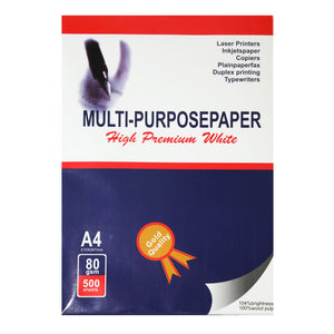 Multi-Purpose White A4 Paper - 500 sheets 80GSM